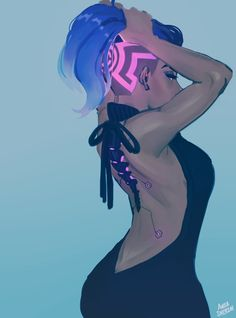DEATH HAWK VIRGIN KILLER HACKER - More at https://pinterest.com/supergirlsart #overwatch #sombra #fanart