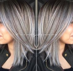 Amazing Grey/Silver Highlights!                                                                                                                                                                                 More