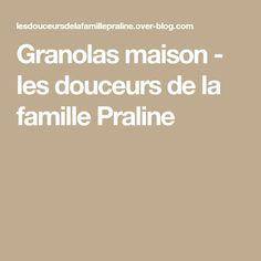 Granolas maison - les douceurs de la famille Praline