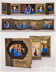 Family photo session, Millers 3x3 mini accordion using template from Ashe Design