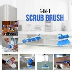 Traditional brushes offer so much, but not enough to clean through and thoroughly, especially those tight corners too tight for bristles. The versatility of th Mat 10, Cool Inventions, Brush Cleaner, Scrubs, Brushes, Cleaning, Traditional, Cool Stuff, Delicious Food