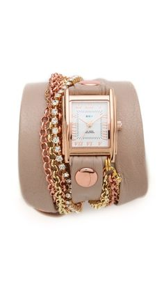 la mer collections crystal chain wrap watch.