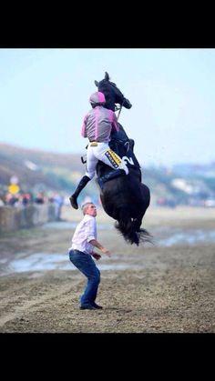 Up, up and away!  Via Irish racing photographer Healey's