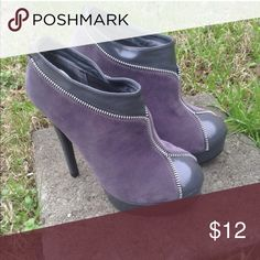 Gray booties Gray booties...never worn...new in box Shoes Ankle Boots & Booties