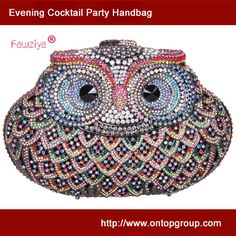 Santimon Women Clutch Purses Rhinestones Crystal Clutch Evening Bags Owl  with Removable Strap and Gift Box 15 Color 0ce4571d2e6a3