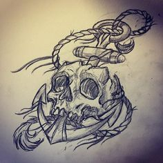 Octopus tattoo is a favorite marine life tattoo design for both women and men. Today, the octopus tattoo is a favorite decorative tattoo. Not only con. Pirate Skull Tattoos, Skull Rose Tattoos, Pirate Tattoo, Body Art Tattoos, Hand Tattoos, Sleeve Tattoos, Anchor Tattoo Design, Skull Tattoo Design, Tattoo Designs