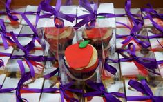 Gallery - Cupcake Favors - Cake in Cup NY Cupcake Favors, Apple Cupcakes, Teacher Appreciation, Apple Dumplings, Teacher Gifts, Teacher Appreciation Gifts