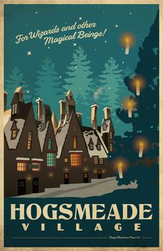 Harry Potter Travel Posters - by Lindsay Craig