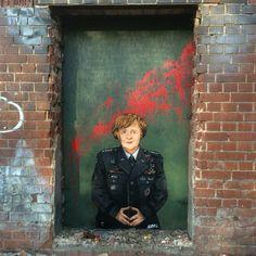 #admiral #merkel #streetart