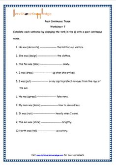 Grade 4 English Resources Printable Worksheets Topic: Present Perfect Continuous Tenses - Lets Share Knowledge Teaching English Grammar, English Grammar Worksheets, English Resources, English Verbs, English Vocabulary, English Language, Bullying Worksheets, Sequencing Worksheets, Printable Worksheets