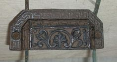 Drawer handles cast iron drawer pulls rusty brown with black antiqued  or Pick Your Color
