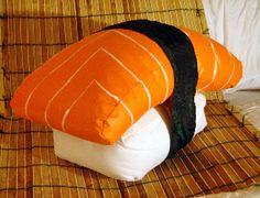 Salmon Nigiri Sushi Pillow from Kupuku by DaWanda.com