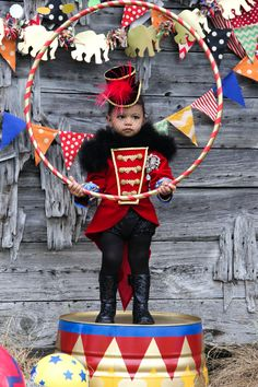 A Vintage Circus 2nd Birthday Party inspired by the movie, Water for the Elephants and a DIY ringmaster costume.