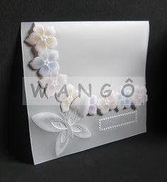 Wangô Arte em Papel Vegetal: Convite Fantasia de Flores IV