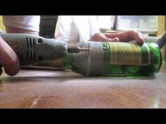 Cut a beer bottle with dremel tool - YouTube