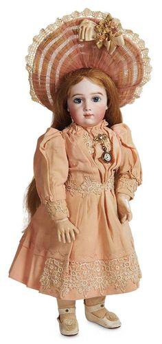 Outstanding French Bisque Bebe A.T. by Andre Thuillier, Size 10, with Splendid Eyes 27,000/37,000