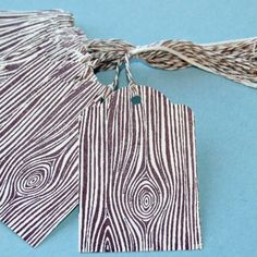 faux bois gift tags with baker's twine - 2 of my favorite things!