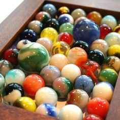 Kids today don't even know how to play marbles. I could teach them.  Just Fun.