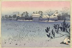 Clear Morning after Snow at Shinobazu Pond, by Shiro Kasamatsu, 1938