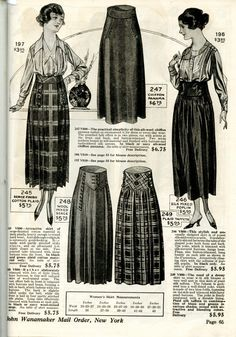 WWI Fashion- Skirts and Blouses- 1918-1919 – Wearing History® Blog