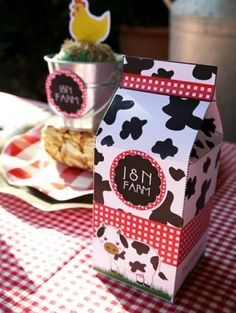 DIY Farm Birthday party Favor Boxes