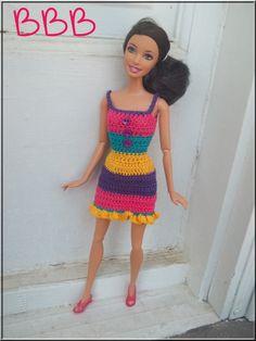 Barbie Clothes Crochet Spaghetti Strap by BarbieBoutiqueBasics