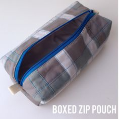Boxed Zip Pouch Tutorial