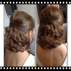 Soft half-high half down fine hair - Frisur Hochzeit - Wedding Hairstyles Wedding Hairstyles Thin Hair, Wedding Hair Half, Wedding Hairstyles Half Up Half Down, Short Hair Updo, Down Hairstyles, Short Hair Cuts, Mother Of The Bride Hairstyles, Fine Hair Updo, Quince Hairstyles