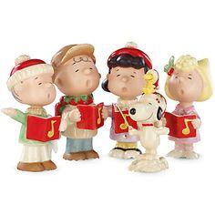 LENOX Figurines: Animated Characters - PEANUTS® Christmas Caroling Figurine