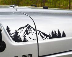 Jeep Wrangler TJ estesa foresta Hood decalco 4pc di GraphicForest