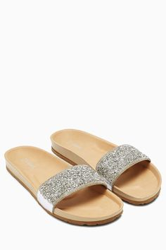 b94abc43ea15 Buy Silver Embellished Footbed Mules from the Next UK online shop Holiday  Clothes