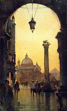 Venice, watercolor by Dusan Djukaric