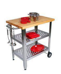 John Boos Cucina Americana Avanti Kitchen Cart with Wood Top   Wayfair