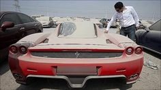 Cars being abandoned in Dubai.....Last year, a Ferrari Enzo, one of only four hundred manufactured, was seized by police having spent several months in a car park collecting dust.