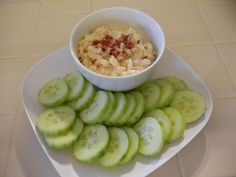 Shelly's BTE Bacon, Tomato, Egg Salad with Cucumber Crackers