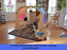 Natural Wooden Waldorf Playstand   by Elves and Angels