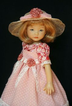 """Dotted Swiss & Daisies ~ OOAK Outfit for Effner 13"""" Little Darling ~ by Gloria"""