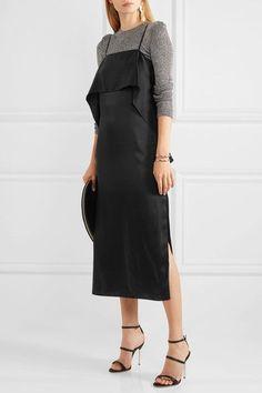 Sophia Webster - Rosalind Crystal-embellished Satin Sandals - Black - IT