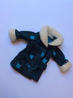 Faerie Glen jacket with fur collar and cuffs blue variation
