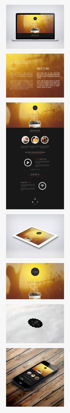 Daria Michalska's Littlebeans Coffee branding concept and website design.