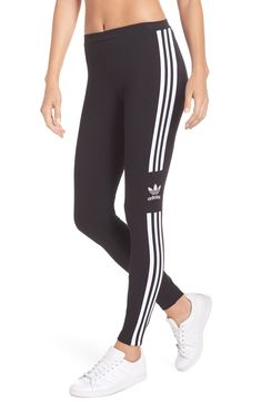 A gym staple that'll see you through any workout, these stretchy leggings are detailed with adidas' iconic and Trefoil logo. Style Name: Adidas Logo Leggings. Style Number: Available in stores. Cotton Leggings, Best Leggings, Leggings Style, Logan, Adidas Originals, Adidas Outfit, Womens Workout Outfits, Outdoor Outfit, Leggings Fashion