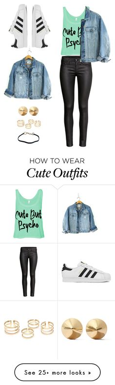 """""""Untitled #590"""" by ofran-moaryd on Polyvore featuring H&M, adidas, Eddie Borgo, Prada and Calvin Klein"""
