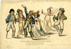 Full: Front Social satire: three sailors drunkenly carousing with three women. 1 August 1808 Hand-coloured etching © The Trustees of the British Museum Majesty Of The Sea, Independence Of The Seas, Soldier Costume, Song Of The Sea, Cruise Europe, Sailor Outfits, My Past Life, Naval History, American War