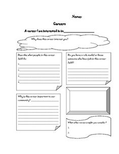 Printables Career Research Worksheet career exploration worksheet and webquest this is to be careers worksheet