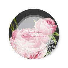 PixDezine pink vintage rose chalkboard Sticker
