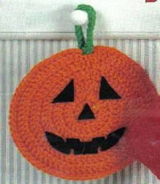 Free Crochet Pattern ~ Pumpkin   Potholder