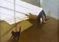 "Robert Vickrey (1926-2011) - ""Sean and Felix"" - Alkyd on paper"