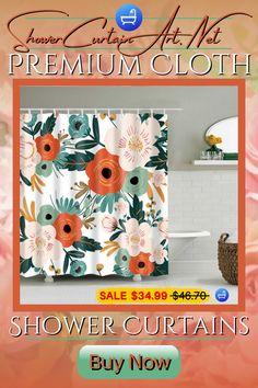 Drastically enhance your bathroom decor with a soft & stylish fabric shower curtain from Shower Curtain Art!