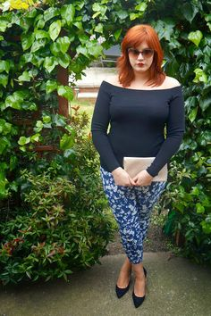 Scarlett And Jo Navy Blue Stretch Trousers
