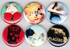 Placebo | Brian Molko Stefan Olsdal Sleeping With Ghosts Black-Eyed This Picture Band Alternative Buttons Pins Badges Pinback